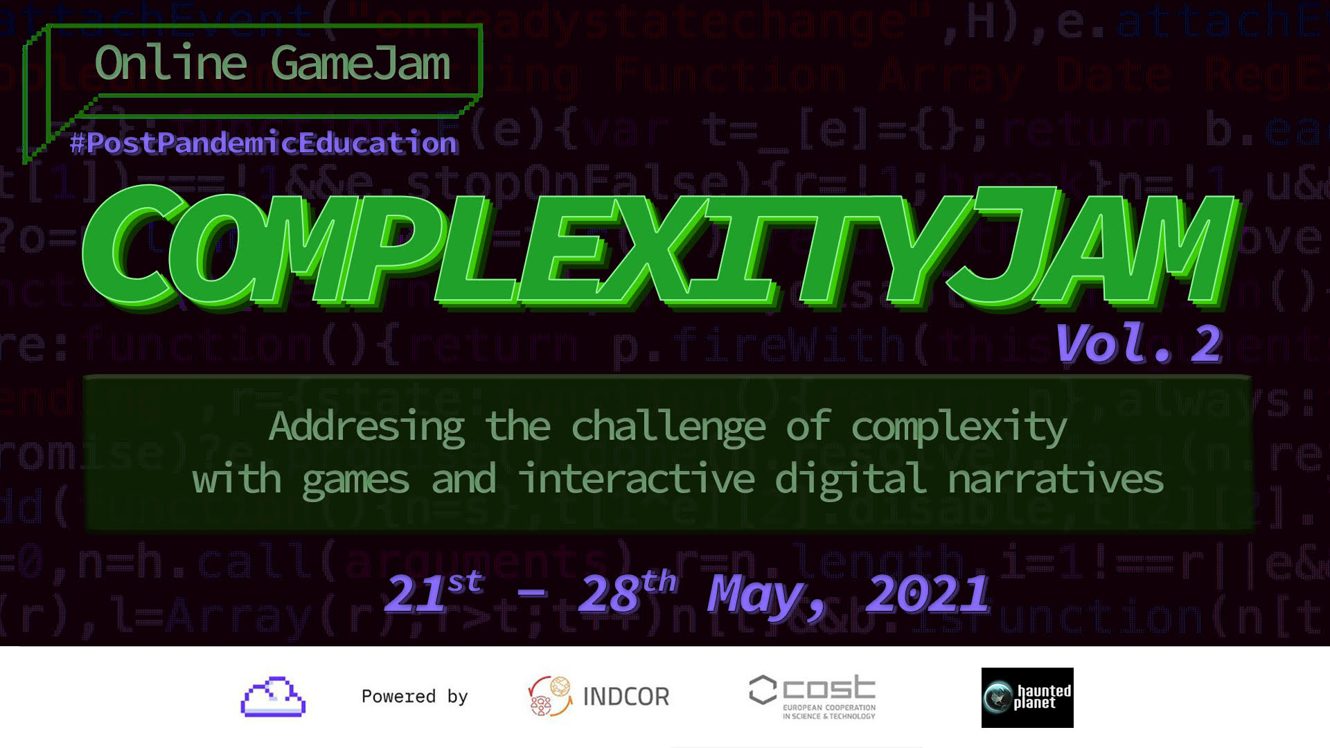 ComplexityJam (II): Call for participants and partners (May 21-28)